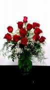 A Awesome Dozen Premium Red Roses