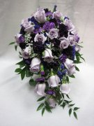 Pretty in Purple- cascade roses- bridal