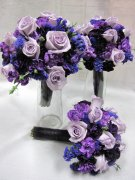 Round Pretty in Purple--Bridal Bouquet Sets