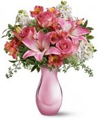 A Pink Reflections Vase