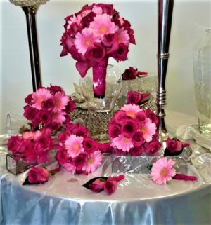 1 1 pink flowers for wedding